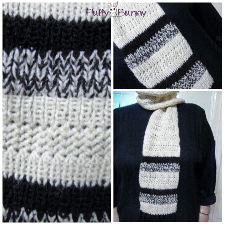 Multi-design scarf! #knitting #scarf