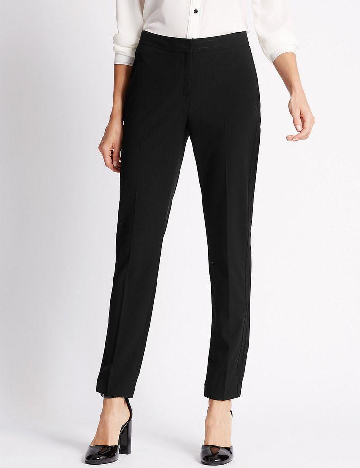 Modern Slim Leg Trousers | Marks & Spencer London $34