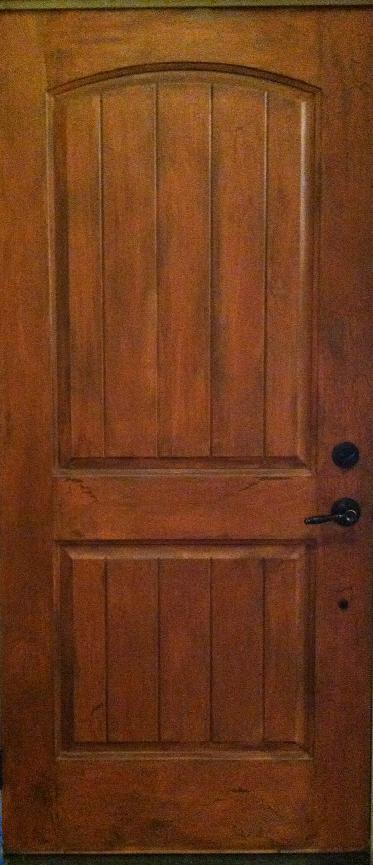 My Front Door Interior Brand New Fiberglass Door I Used Brown For A Base Coat Brushed A