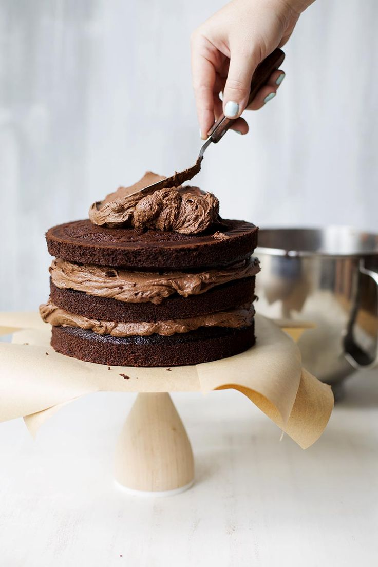 The Perfect Chocolate Fudge Layer Cake // The Sugar Hit