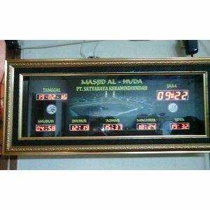 Jam digital masjid jual jadwal sholat digital otomatis murah Tangerang 2
