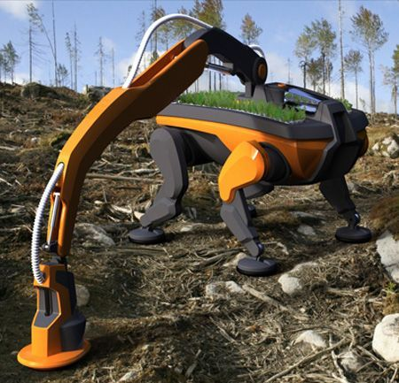 Tree Planting Robot Is Designed To Help Reforestation Reach An Environmnentally Friendly Plant Process The eco-friendly tree planting robot as its creator named it, is a four legged planting robot. This robot is equipped with a planting arm and a planting head. The legs of the robot reduce the pressure applied on the forest floor and allow the machine to be smaller, while still being able to move through tough terrain. Today, most parts of the forestry industry in Sweden is completely…