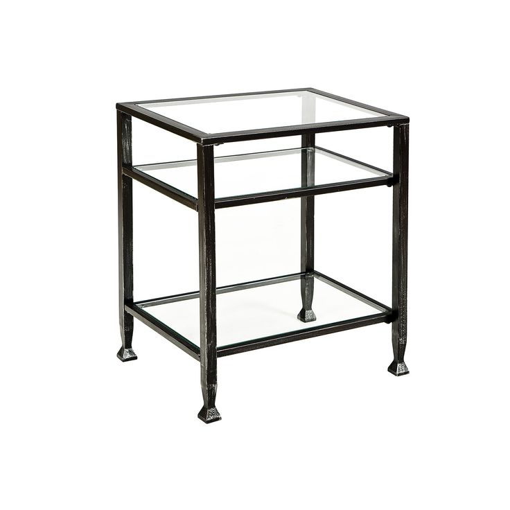 Metal End Table, Black