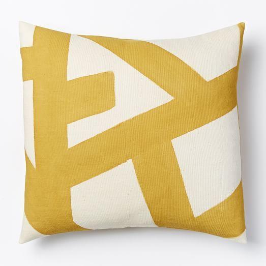 kisanii pillow cover plantain natural west elm sale. Black Bedroom Furniture Sets. Home Design Ideas