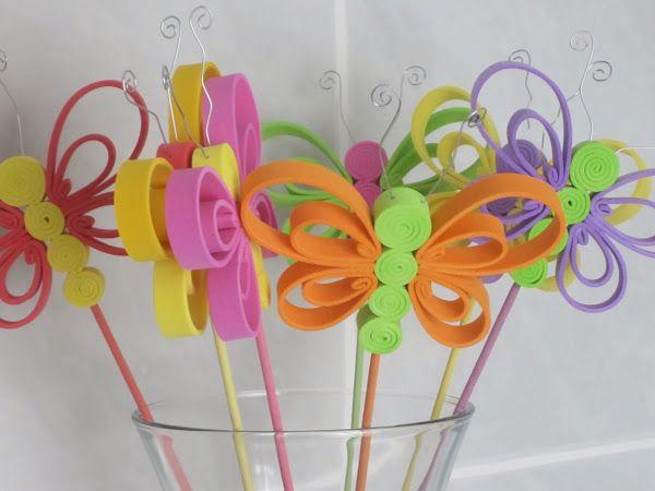 Pin by teresa perez on foami pinterest crafts and projects - Flores sencillas de goma eva ...