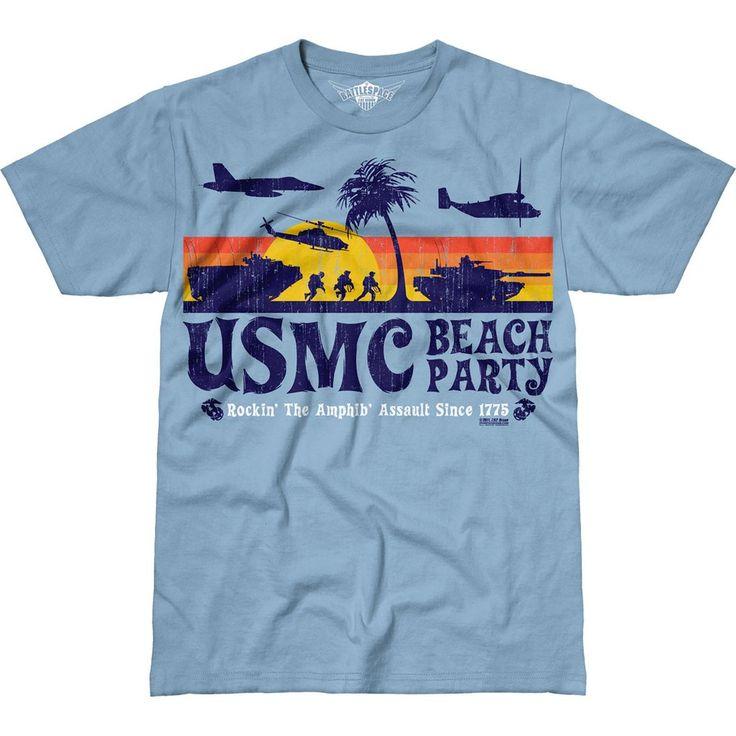 USMC 'Beach Party' 7.62 Design Battlespace Men's T-Shirt