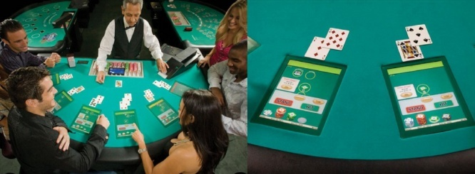 Casino Gaming i-Table™for Blackjack, Baccarat, Three Card Poker and Ultimate Texas Hold'em