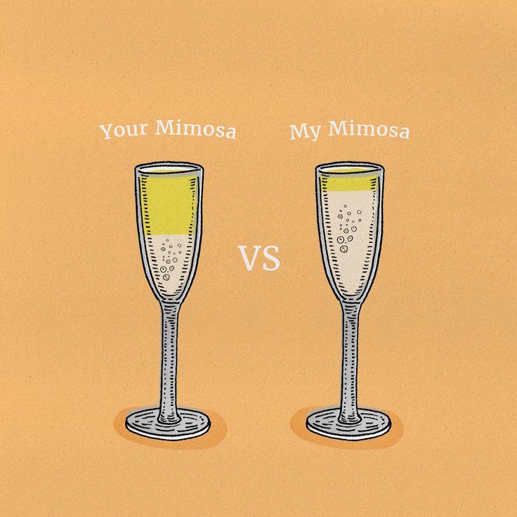My mimosa wins.