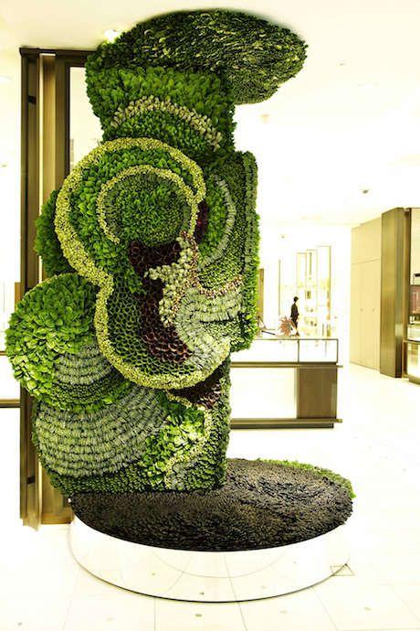 This Plant Artwork Combines Consumerism and Wildlife. Flower artist Makoto Azuma's Art of Plants installation in Japan's Isetan Department stor