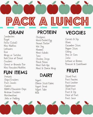 Packed Lunch Box Ideas (Free Printable) for Lunchbox Inspiration!