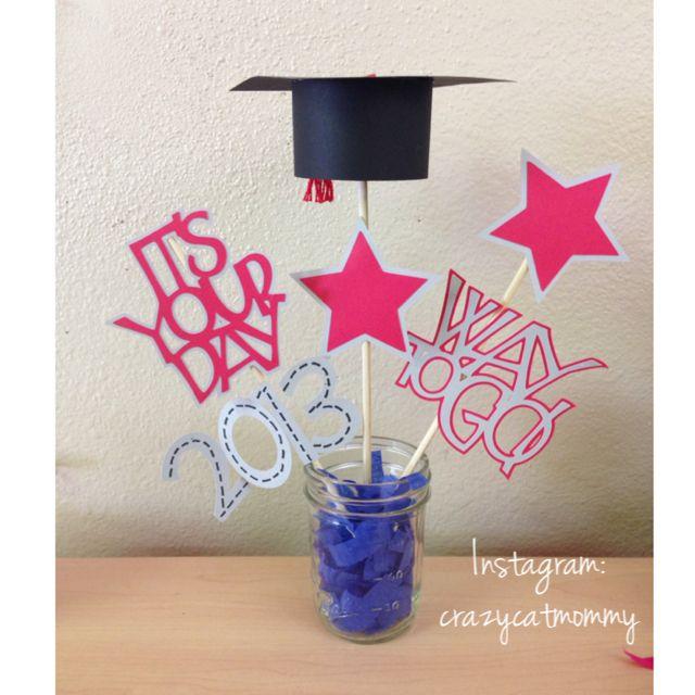 Mason jar centerpieces zachary s graduation
