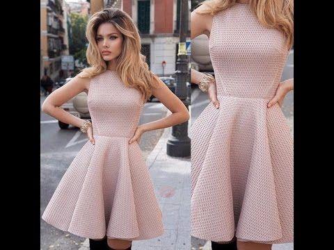 Платье с юбкой солнце - клеш. - YouTube