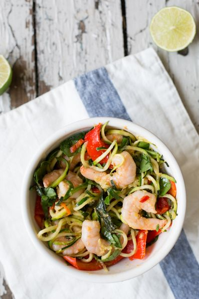 Prawn and Pepper Courgette Stir Fry