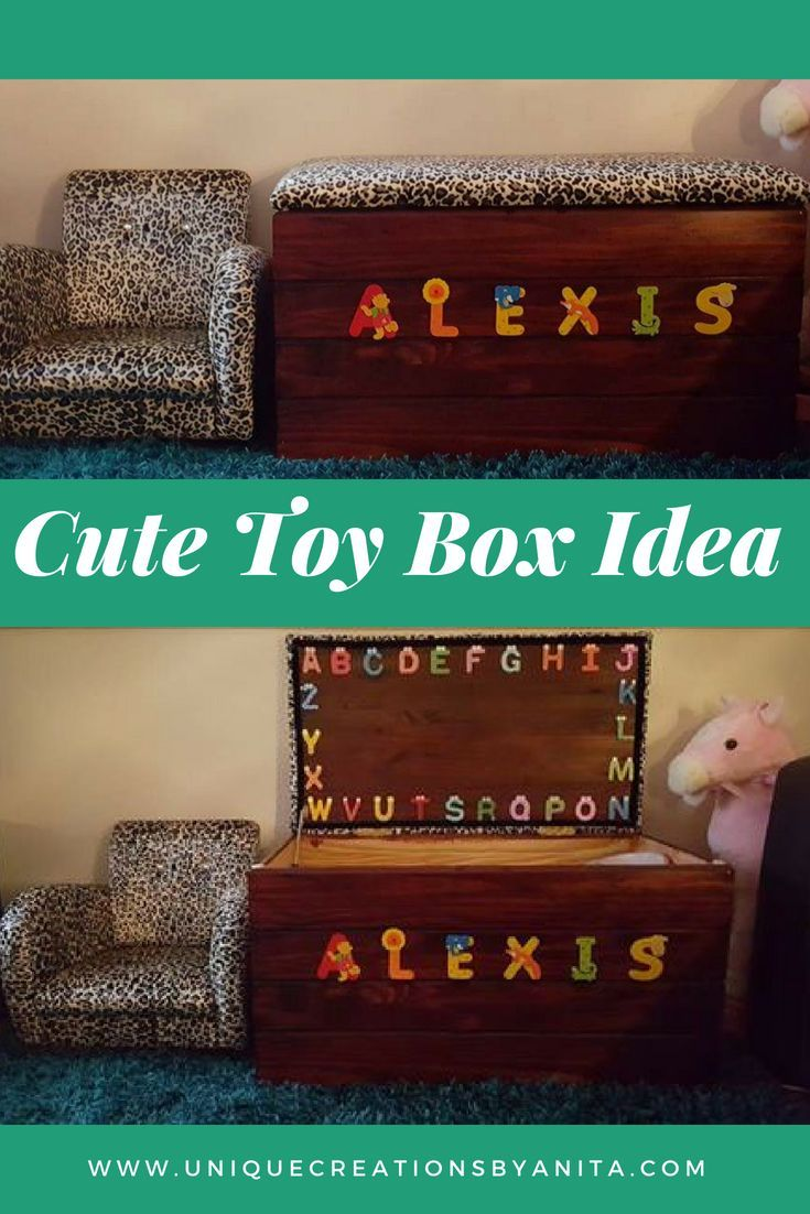 What a great idea for a personalised toy box.