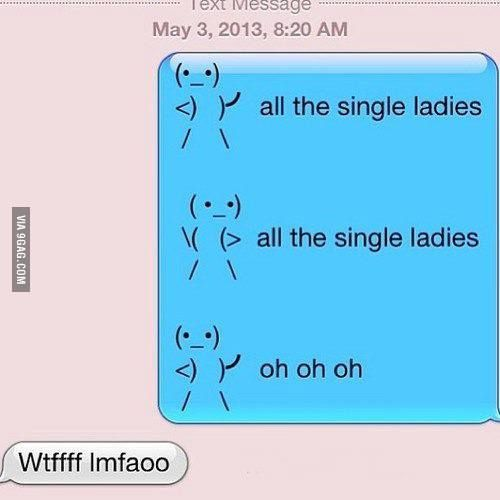 All the single ladies..