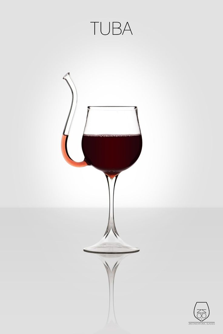 Unique wine glasses. *even,if poorly a sip of Port with a Meal LONG As U don't poke ones eye out!!!