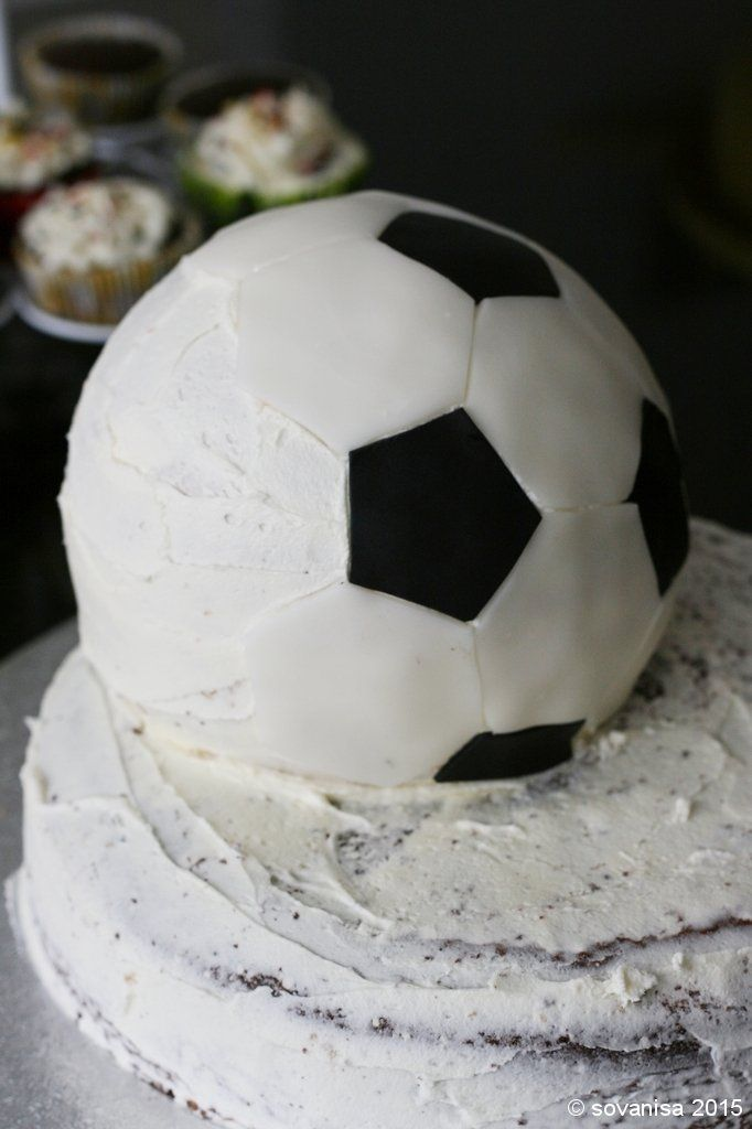 sovanisa: how to make a soccer ball cake:
