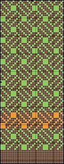 Mønster til votter eller annen strikk