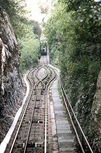 Funicular - Monastery of Montserrat Catalonia Spain Monserrat04