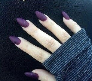 plum purple nails. perfect for winter.