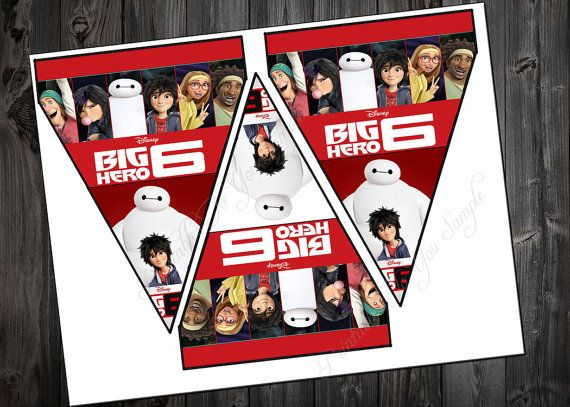 Big hero 6 banners for party hero baymax by PrintablesToYou