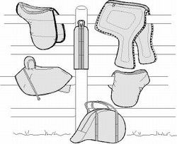 Suitability.com: patterns for equestrians.  Saddle & Bridle Carry Bags & Saddle Cover Pattern