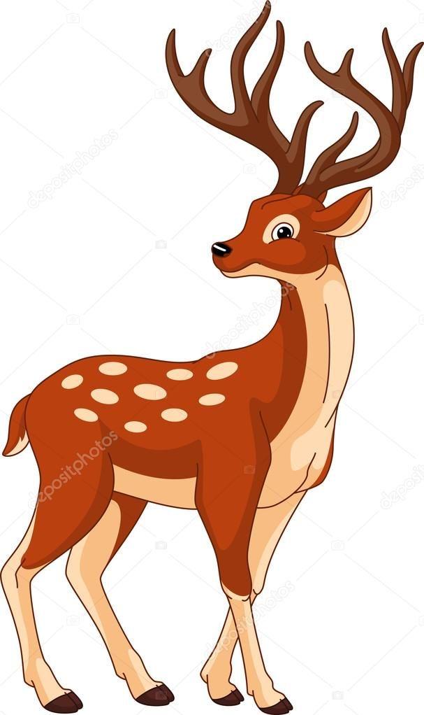 Изображение милый олень — стоковая иллюстрация #120484568 ...