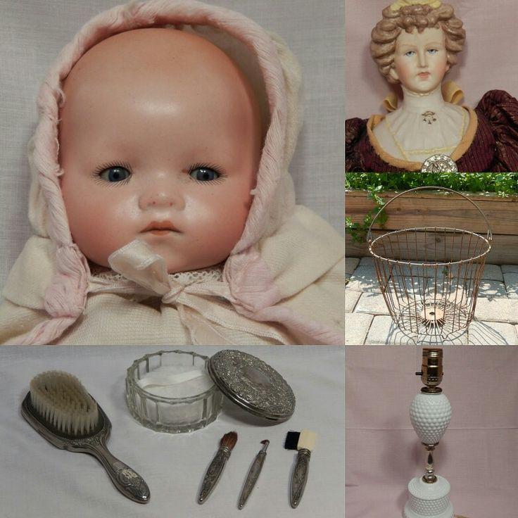 Spring Sale! Reduced by 20% in my #etsy shop! Link in bio  #etsy #etsyshop #etsyseller #etsyfinds #etsyvintage #vintage #farmhouse #farmhousestyle #metalbasket #basket #apple #egg #lamp #milkglass #hobnail #shabby #white #porcelain #RascalsRarities #brushes #makeup #mirror #compact #brush #silver #doll #olddoll #babydoll #boudoir #vanity #vanityset #decor #homedecor