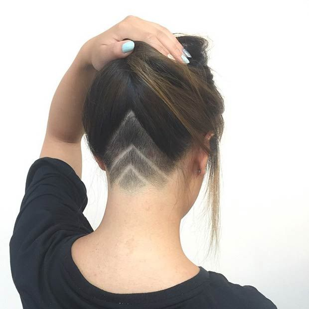 """V"" Shape Undercut Design for Women"