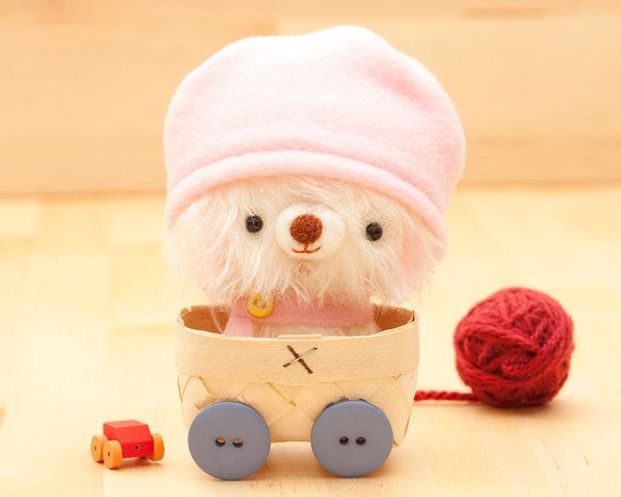 Amigurumi bear in pink plush toy  made to order  by knittingdreams, $45.00