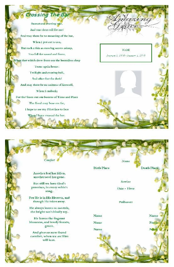 15 best free funeral program images on Pinterest Christmas - funeral checklist template