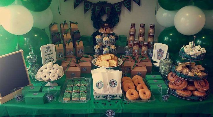 You have to see this Starbucks birthday party! See more party ideas at CatchMyParty.com!