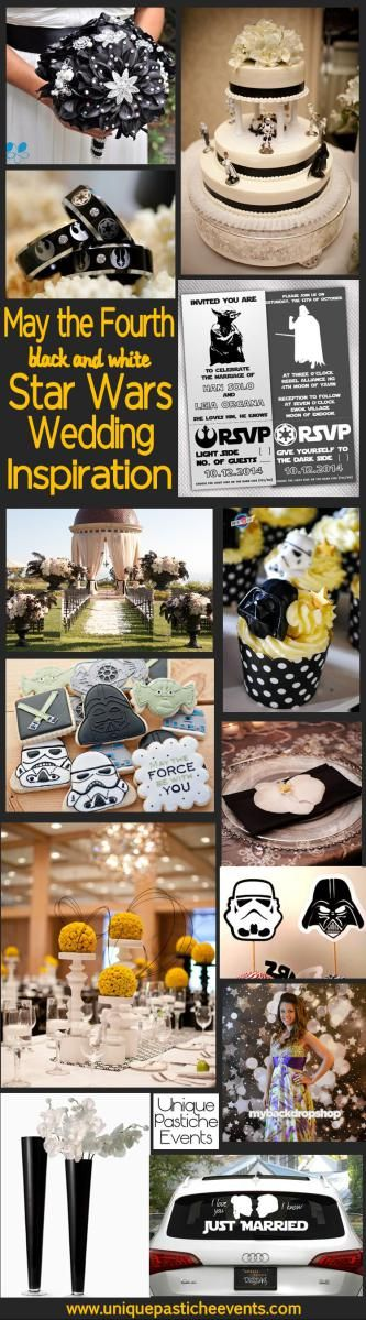 May the Fourth {Black and White} Star Wars Wedding - Inspiration and Ideas <---- so I'm totally against marriage but had to repin b/c this is just too awesome...even with all the yucky marriage stuff.