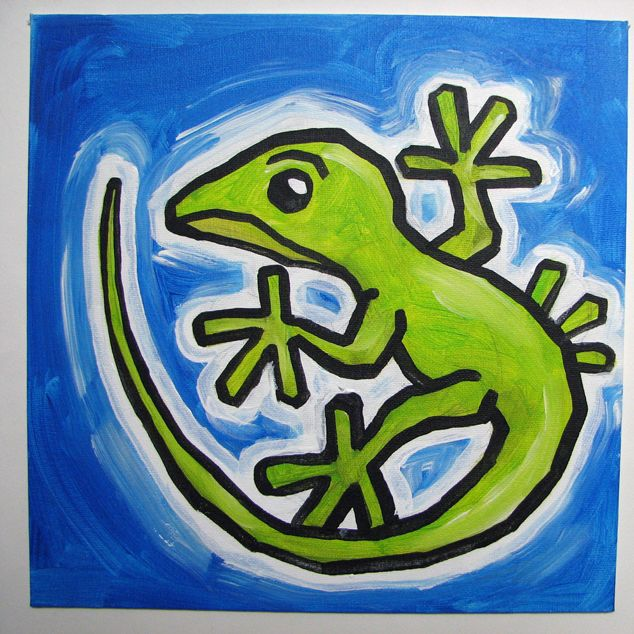 simple lizard painting - Google SearchLizard Painting