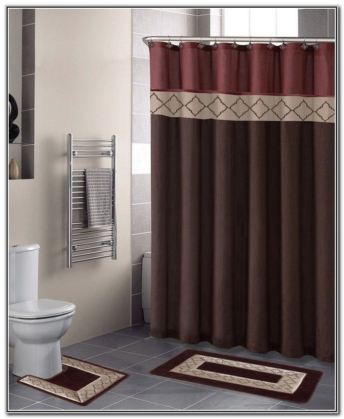 Bathroom Shower Curtain Sets, Bathroom Sets With Shower Curtain And Rugs