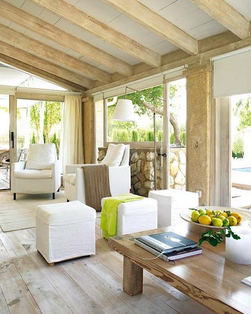 Via Daily Dream DecorNature Wood, Floors, Expo Beams, Living Spaces, Sun Porches, Living Room, Covers Porches, Daily Dreams, Dreams Decor