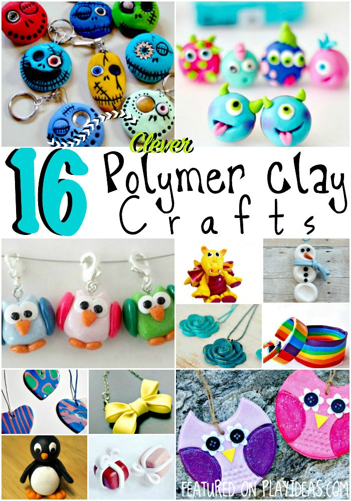 Polymer clay is so fun to create with- get started with one of these 16 polymer clay crafts! You'll love seeing what you can create with clay!