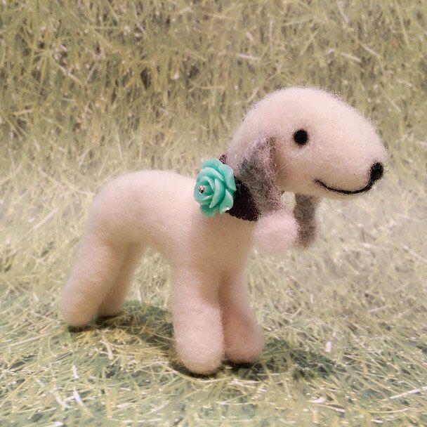 Needle Felted Bedlington Terrier, Needle Felted Terrier Puppy, Miniature Terrier by DesignedbyAbble on Etsy https://www.etsy.com/listing/222290901/needle-felted-bedlington-terrier-needle