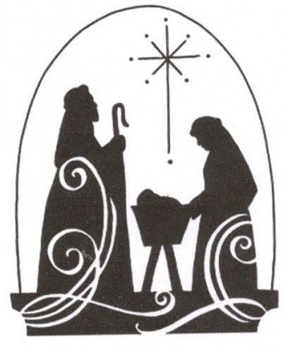 Nativity Scene Silhouette Printable Heres wishing ... nativity