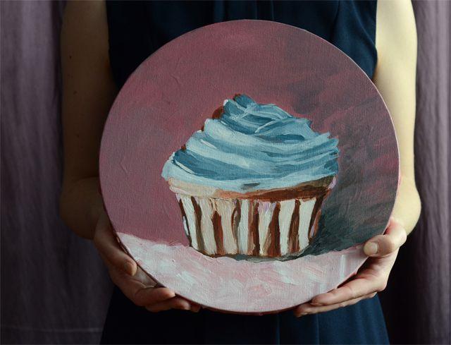 Le Cupcake, acrylic on canvas.