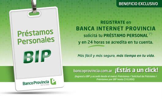 Banco de la provincia de Buenos Aires - Banca Personal - Prestamos Personales 24 horas