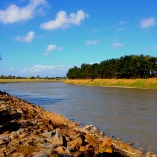Manawhatu river Palmerston north New Zealand