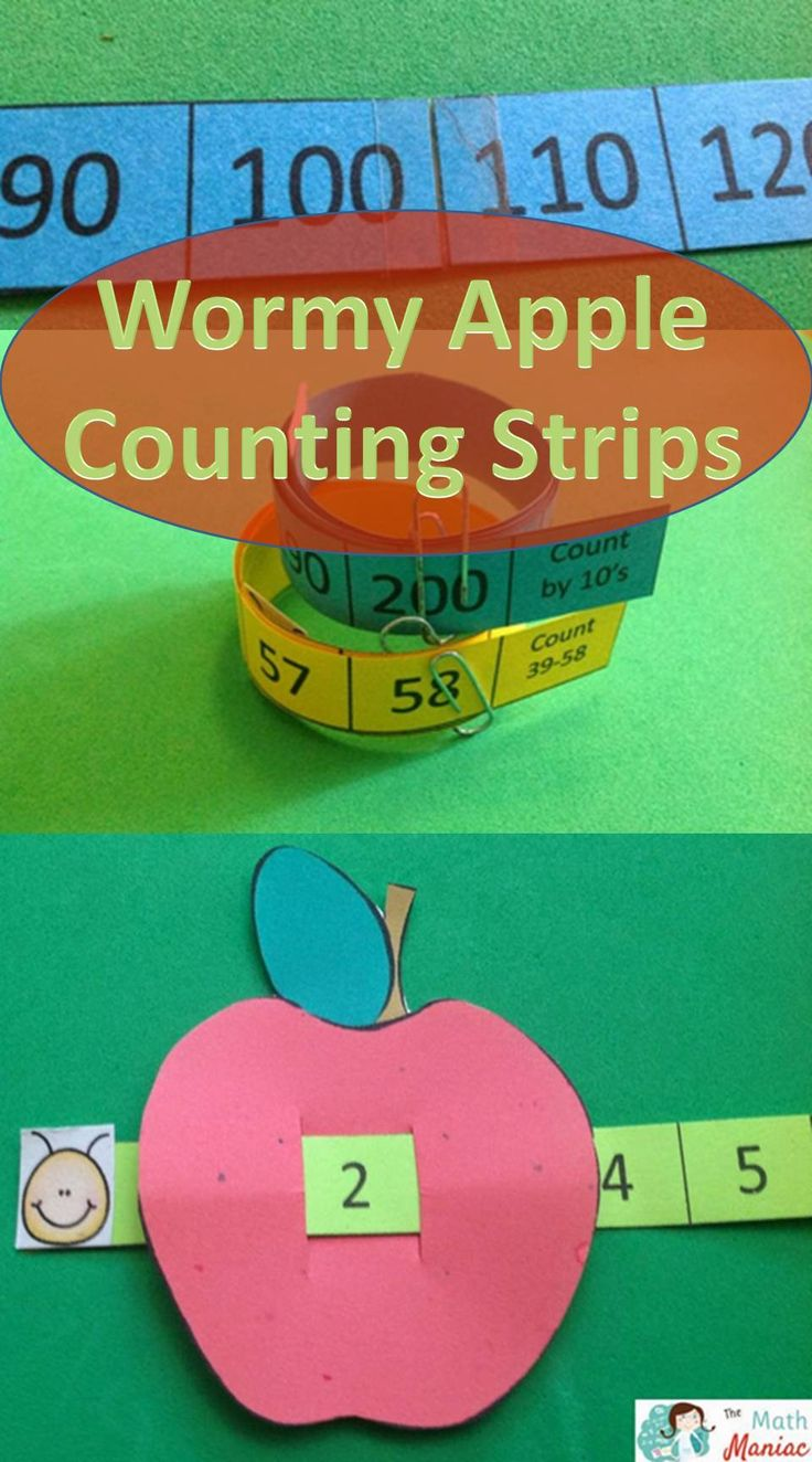 I love using these counting strips to help kids count by ones, twos, fives and tens. Super cute and easy to make!