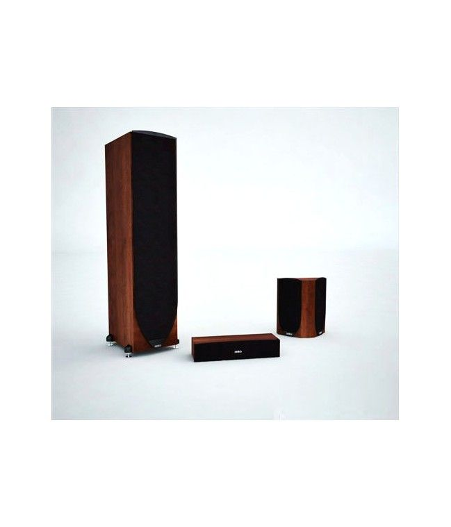 Surround speakers -  High definition 3D model wooden surround speakers.Add this complement to living rooms.