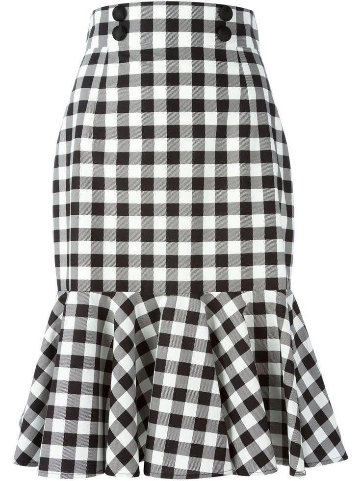 Dolce & Gabbana Check Ruffle Skirt - Luisa Boutique - Farfetch.com
