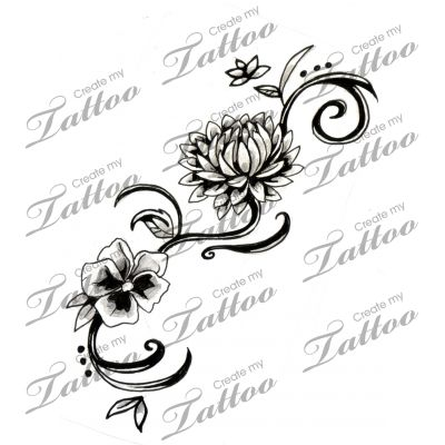 Chrysanthemum tattoo...perfect, I'd add a rose and a daffodil...for November, June and March, my hubby and daughters birth months