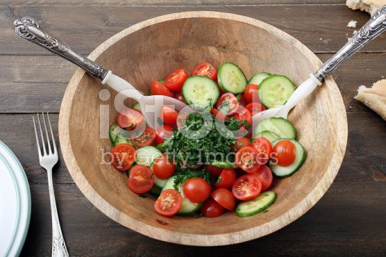 healthy food mixed salad tomatoes and cucumber royalty-free stock photo