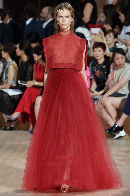No one does red like Valentino—this ethereal gown from his show in Rome is everything.