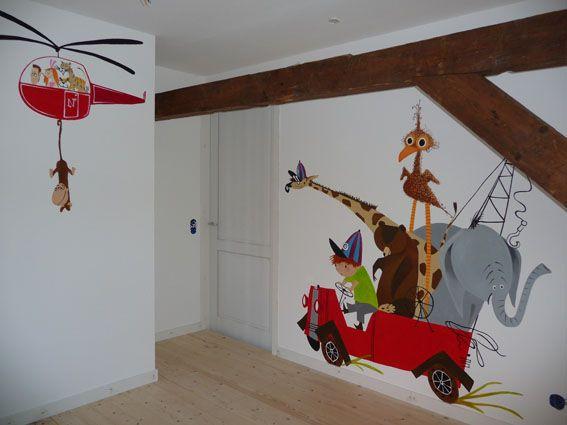 Pluk van de Petteflet muurschildering