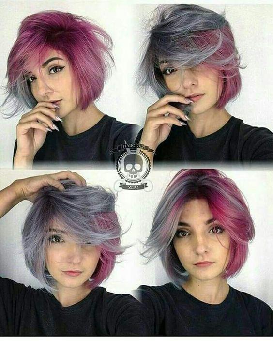 Pin By Ruth Bristol On Pretty Hair Stuff In 2019 Cabello Bicolor